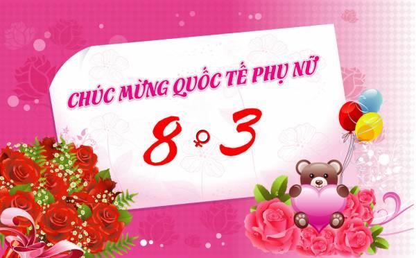 Chúc mừng ngày quốc tế Phụ nữ 8/3