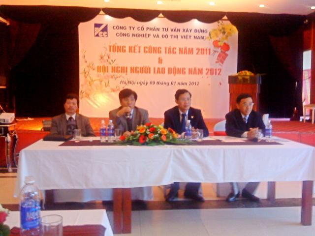 Công ty Cổ phần Tư vấn Xây dựng Công nghiệp & Đô thị Việt Nam tổ chức Hội nghị tổng kết công tác năm 2011 và phương hướng hoạt động 2012
