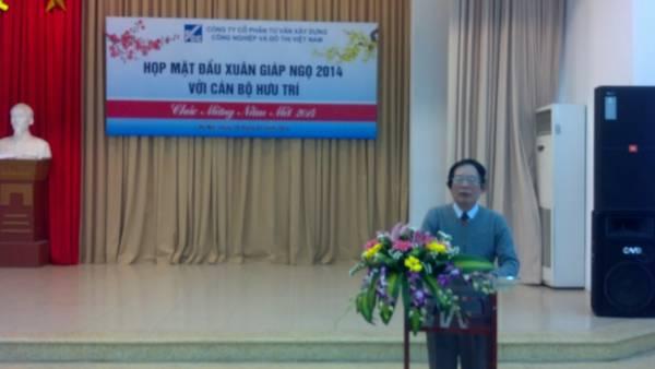 Công ty CP tư vấn Xây dựng Công nghiệp và Đô thị Việt Nam tổ chức họp mặt thân mật cán bộ hưu trí Công ty nhân dịp đầu xuân 2014
