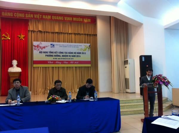 Đảng bộ Công ty Cổ phần Tư vấn Xây dựng Công nghiệp & Đô thị Việt Nam tổ chức Hội nghị tổng kết công tác Đảng năm 2013 và phương hướng, nhiệm vụ năm 2014