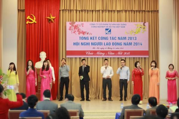 Công ty Cổ phần Tư vấn Xây dựng Công nghiệp & Đô thị Việt Nam tổ chức Hội nghị tổng kết công tác năm 2013 và Hội nghị người lao động 2014