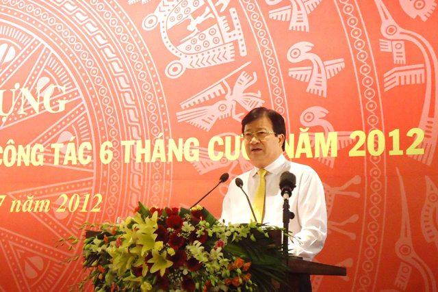 Hội nghị giao ban triển khai thực hiện nhiệm vụ công tác 6 tháng cuối năm 2012 của ngành Xây dựng