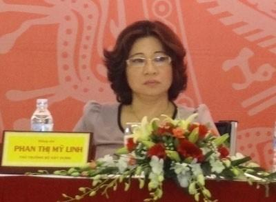 Bà Phan Thị Mỹ Linh giữ chức vụ Thứ trưởng Bộ Xây dựng