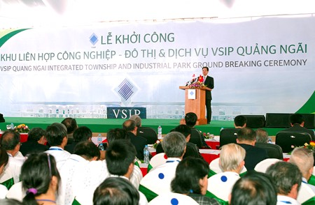 Khởi công Khu liên hợp VSIP Quảng Ngãi